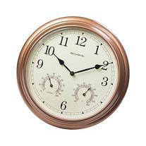 AcuRite 00919 13-Inch Copper Indoor/Outdoor Wall Clock with