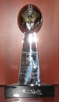 02/03/2008 Super Bowl XLII Vince Lombardi Replica Trophy