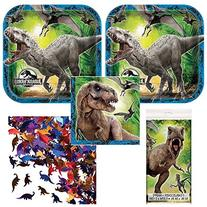 02lp Jurassic World Party supplies for 16 guests, lunch