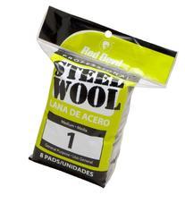 Red Devil 0324 Steel Wool, 1 Medium, 8 Pads