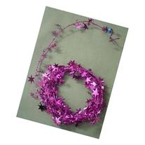 Party Deco 04909 25 ft. Fuchsia Star Wire Garland