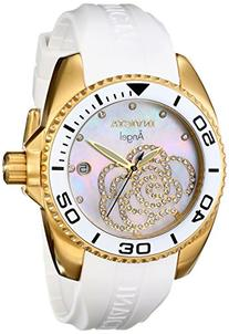 Invicta Women's 0488 Angel Gold-Tone Watch with White
