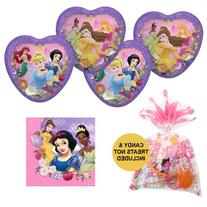 05 Girls Disney Princess Birthday Party Pack Supplies for 16