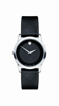 """Movado Women's 0606503 """"Museum"""" Stainless Steel and Leather"""