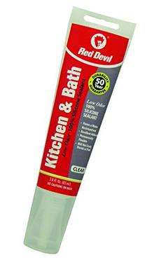 Red Devil 0885 Kitchen & Bath Low Odor Silicone Sealant