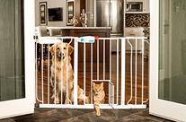 Carlson 44-Inch Extra Wide Walk Through Gate with Pet Door,