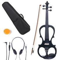 Cecilio 3/4 CEVN-1BK Solid Wood Electric/Silent Violin with