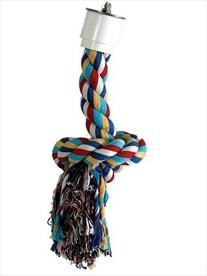 Paradise 1/2 by 7-Inch Cotton Preening Knot Chew Toy, Small