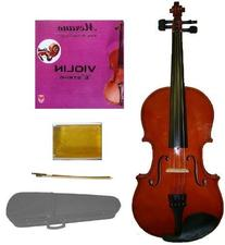 GRACE 1/4 Size Natural Acoustic Violin with Case and Bow +