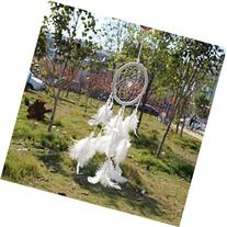 New! Circle-shaped Dream Catcher with Feathers Wall Hanging