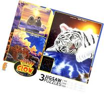 3 in 1, 100/300/500 Pieces Sunset Glow Puzzle Box Set Cuddle