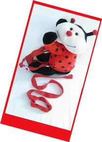 2 IN 1 BUDDY TODDLER LADY BUG KIDS SAFETY HARNESS LEASH