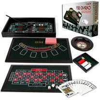 Trademark Poker 4-in-1 Casino Game Table Roulette, Craps,