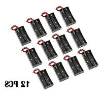 WAYLLSHINE® 12 Pcs/1 Dozen 2 x 1.5V AA Battery Holder Case