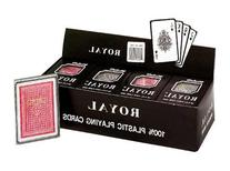 "Royal - 100% Plastic Poker Size Playing Cards, 3 1/2"" x 2 1/"