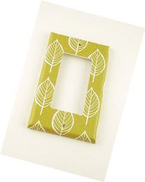 1 Gang Rocker Lightswitch Plate Olive and Leaves