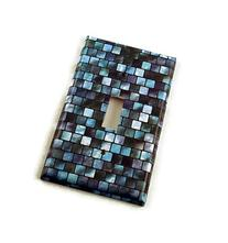 1 Gang Single Toggle Switch Plate, Tranquil Tiles
