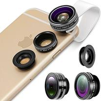 Neewer 3-in-1 Clip-on Lens Kit for Android Tablets,ipad,