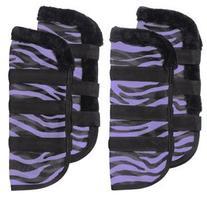 Tough-1 Zebra Mesh Fly Boots Zebra