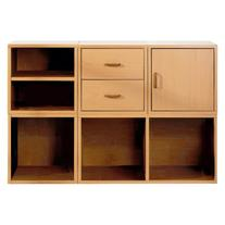 Foremost 5-in-1 Modular Storage System, Honey, Wood Veneers