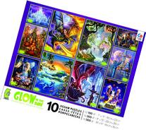 10-in-1 Multi Pack Glow in The Dark Jigsaw Puzzle