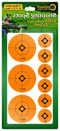 Caldwell Orange Peel 1 & 2 Inch Shooting Squares, 12 Pack