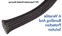 1/4 Inch PET Expandable Braided Sleeving- 10ft - Black