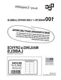 Generic White Self Adhesive Labels 2 X 4  Pack/100 Sheets 10