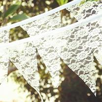 AllHeartDesires 1 Set Vintage White Full Lace Bunting