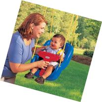 Little Tikes 2-in-1 Snug 'n Secure Swing, Blue, with