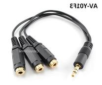 CablesOnline 3.5mm  TRS Male Plug to 3x Female Stereo Audio
