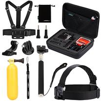 Luxebell Value Pack Accessories Kit for Gopro Hero 5 4 3+ 3