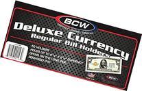 10 BCW Regular Bill Holders, Hard Clear Money Protectors