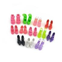 10 Pairs of Doll Shoes Fit Barbie Dolls Style and Color May