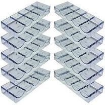 Da Vinci 10 Clear Acrylic Stackable Poker Chip Trays. Each