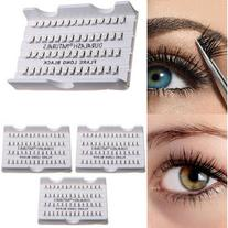 8/10/12mm Cluster Individual Black False Eyelashes Flare