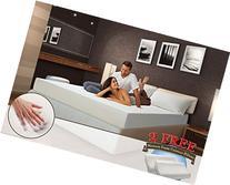 """10"""" inch QUEEN COOL MEDIUM-FIRM Memory Foam Mattress Bed"""