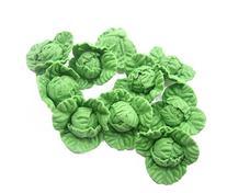 10 Loose Untrimmed Cabbage Vegetables Barbie Miniatures