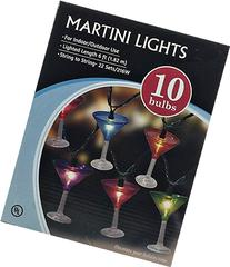 10 Plastic Martini Party String Lights 6 ft Lighted Length