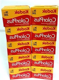 10 Rolls Of Kodak colorplus 200 asa 36 exposure
