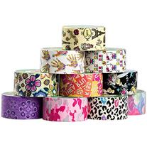 10 Rolls Printed Duck Brand Duct Tape Bulk Lot Patterns Art
