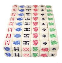 100  16mm 6-Sided Poker Dice, Perfect for Poker Games and
