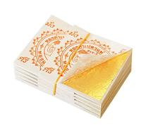 100 Edible Gold Leaf Sheets 24K 100% Pure 35 x 35 MM Cake