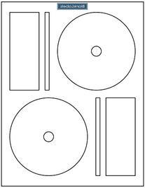 500 CD DVD Labels Blank Labels Brand fit Memorex Full Face