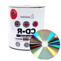 Smartbuy 100-disc 700mb/80min 52x CD-R Shiny Silver Top