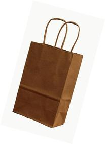 100 Rose / Prime Natural Kraft Shopping Bags with Handle, 5-