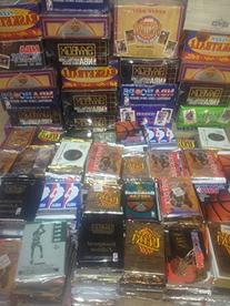 100 Vintage NBA Basketball Cards in Old Sealed Wax Packs -