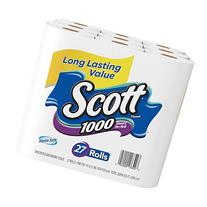 Scott 1000 Sheets Per Roll Toilet Paper, Bath Tissue, 27