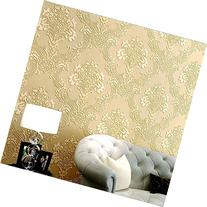 HaokHome 1011 Luxury Damask Flocking Textured Wallpaper Roll