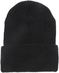 Wigwam Men's 1015 Wool Ribbed Watch Cap, Black, One Size